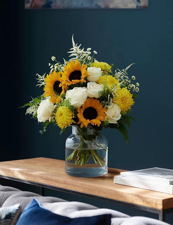 floral sunshine in a vase