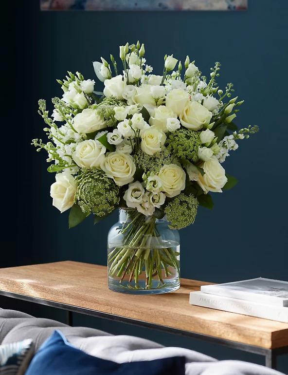 Mellow White In a Vase
