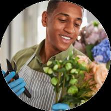 Johnson Kimakia a florist at Nairobi City Florists - The Red petals