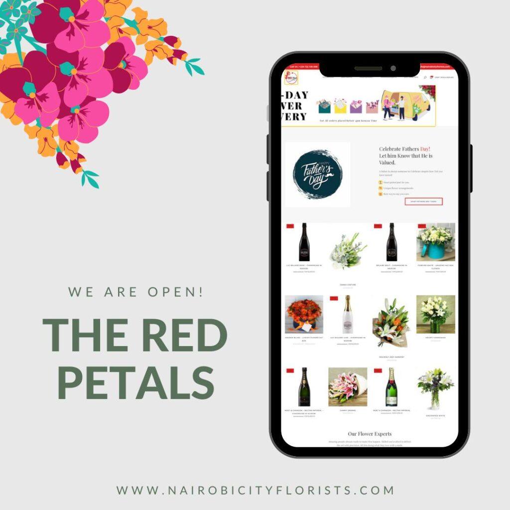 easy to navigate website. Flower Delivery Kenya